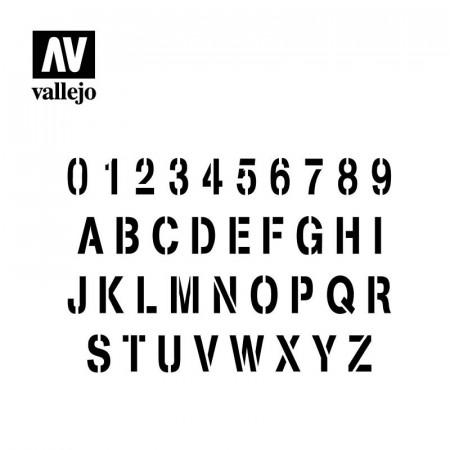 SZABLON STAMP FONT Vallejo...
